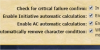 Character conditions automation