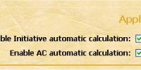Automatic stats calculation